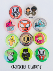 CHARACTER BUTTONS