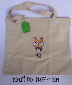 KAWAII FOX SHOPPER BAG